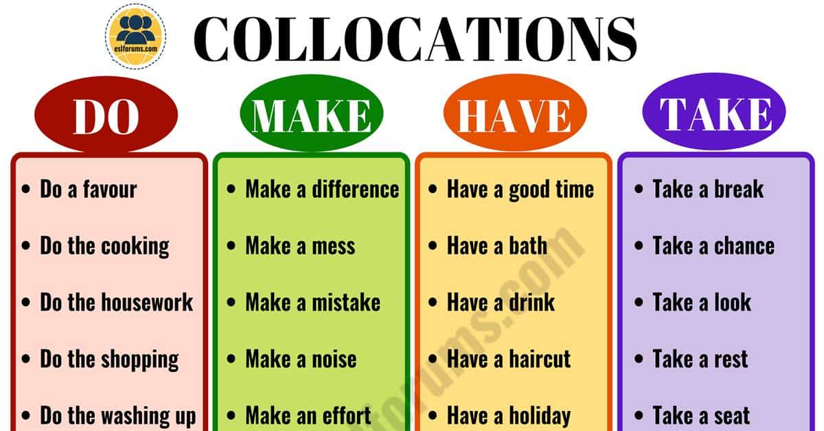 The Ultimate List of English Collocations You Should Know!! 5