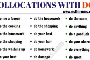 Learn 47 Collocations with DO in English 13