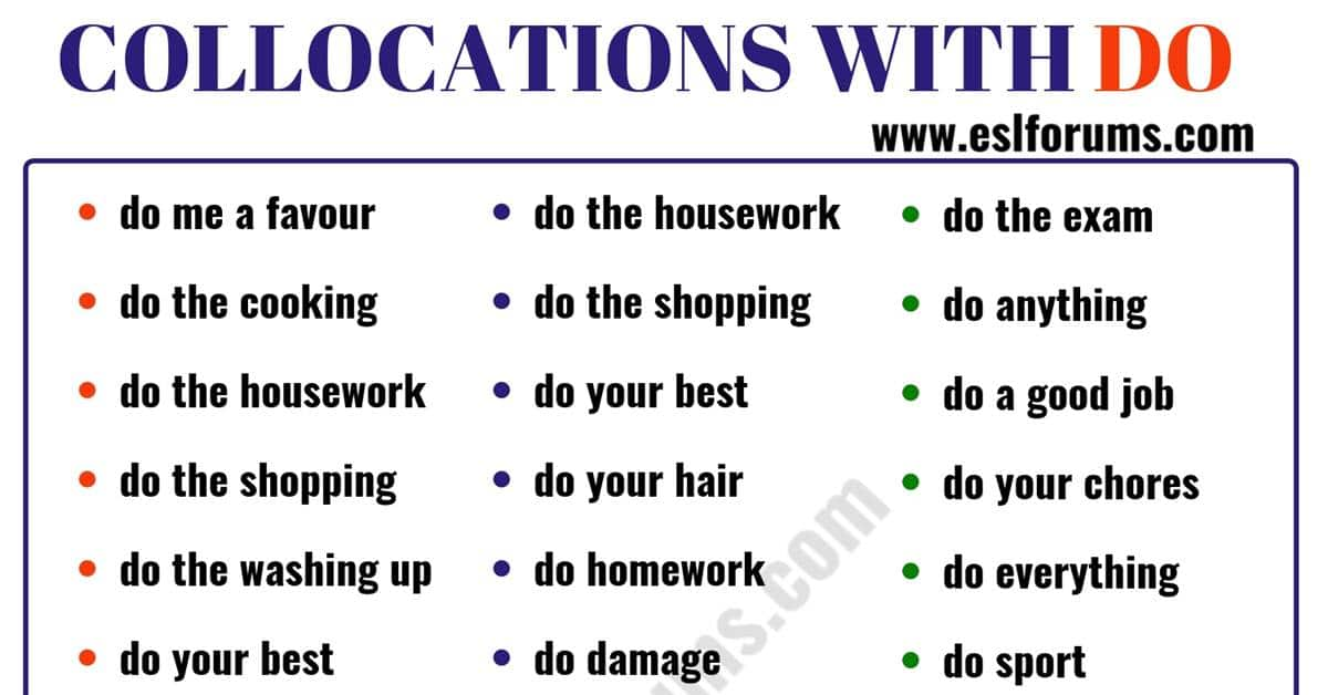 Learn 47 Collocations with DO in English 6