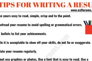 Resume Tips: How to Write a Professional Resume 4