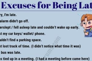 15 Best Excuses for Being Late You Might Need! 17