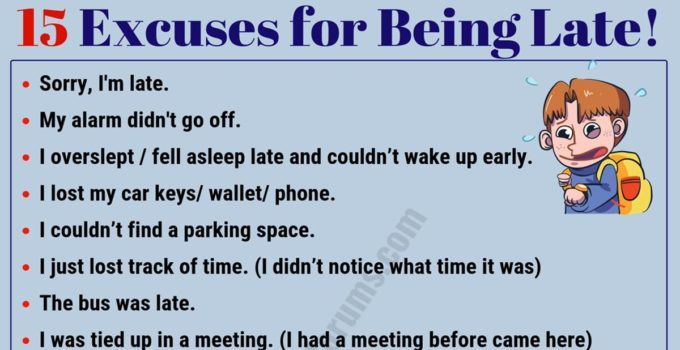 15 Best Excuses for Being Late You Might Need! 1