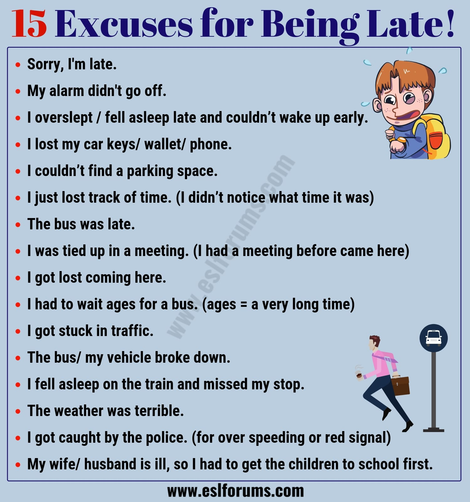 15 Best Excuses for Being Late You Might Need!