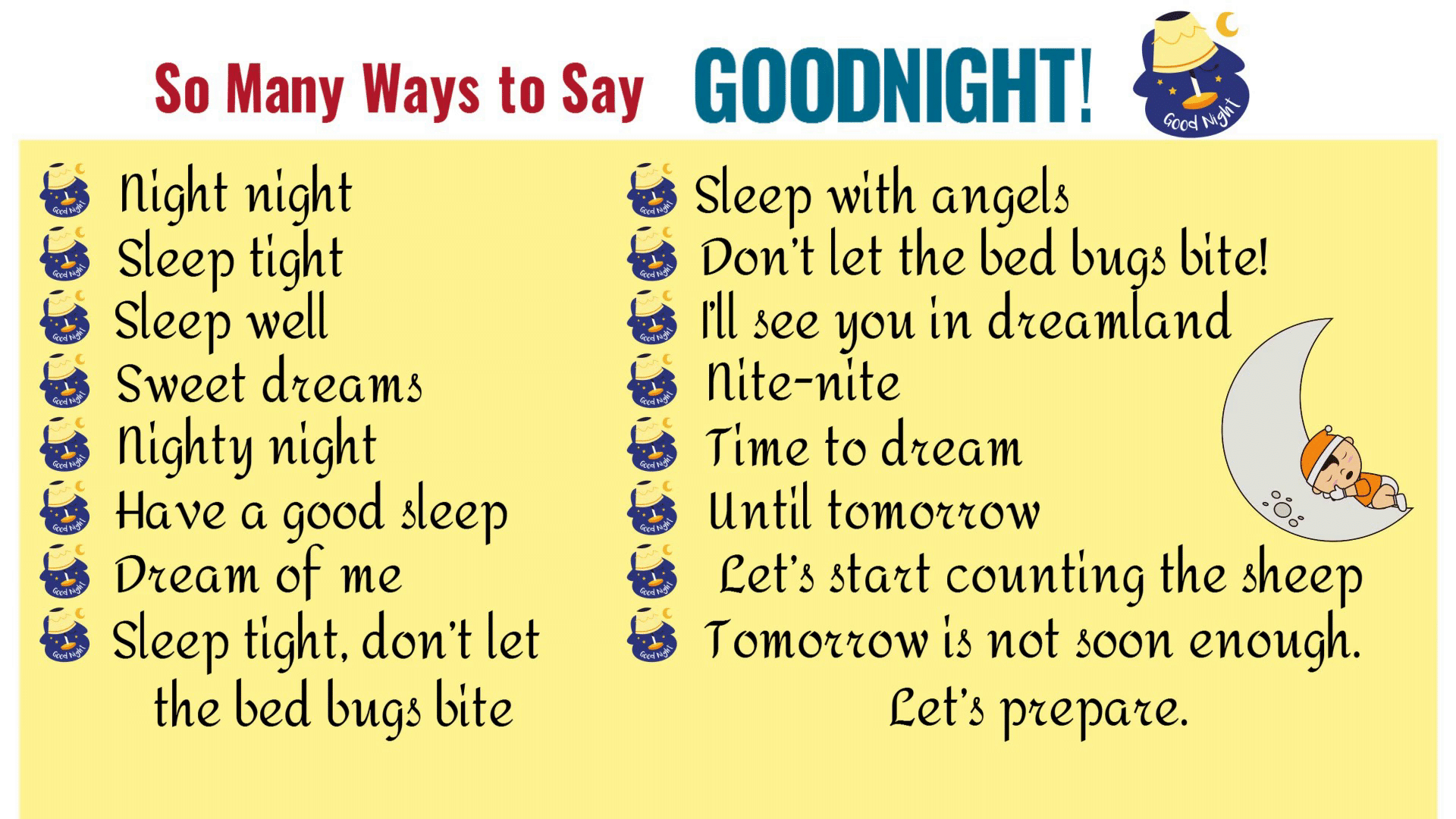 GOODNIGHT Quotes: 18 Funny Goodnight Messages in English