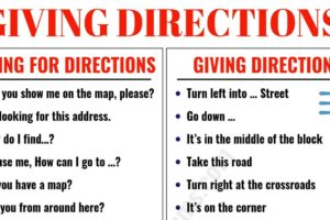 Asking for and Giving Directions in English 35