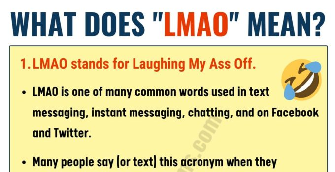 What Does LMAO Mean in Texting? ROFL, BFF, IMO & More...! 4