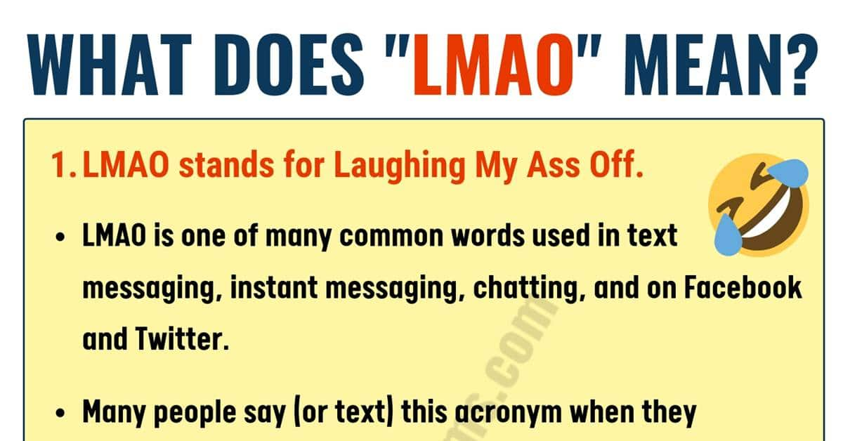 What Does LMAO Mean in Texting? ROFL, BFF, IMO & More...! 1