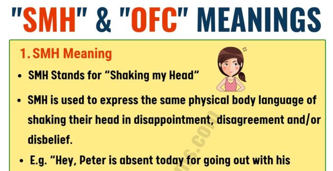 OFC & SMH in Texting: Meaning and Useful Conversation Examples 3