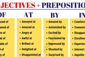80+ Important Adjective and Preposition Combinations 4