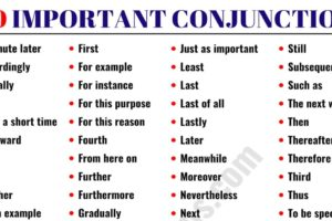 List of Conjunctions: 100 Important Conjunctions in English 53