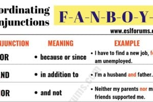 FANBOYS: 7 Important Coordinating Conjunctions 10