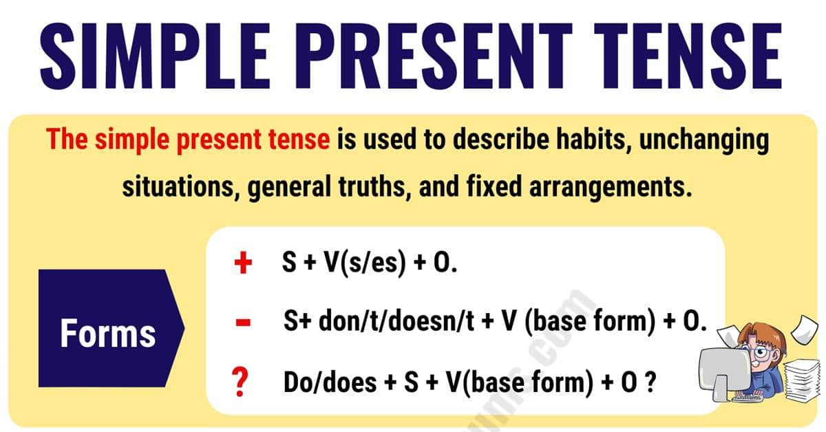 The Simple Present Tense: Useful Usage and Example Sentences 10