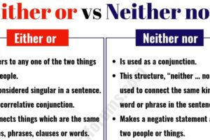 """Either or"" vs ""Neither Nor"": How to Use Them Correctly? 9"