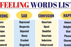 Feeling Words: Useful Words to Describe Feelings 7