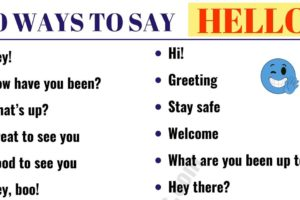 30 Different Ways to Say HELLO! | HELLO Synonyms 38