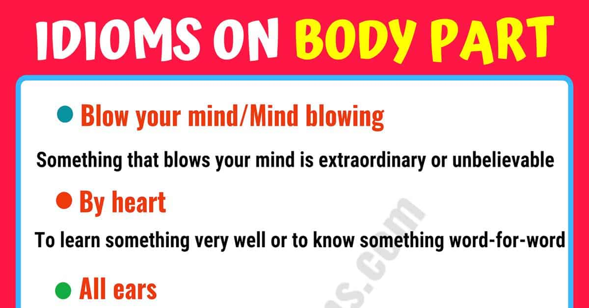Learn Idioms with Body Parts in English 1