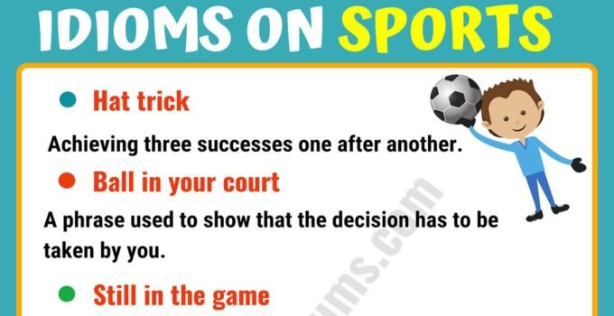 10 Funny Sports Idioms in English 7