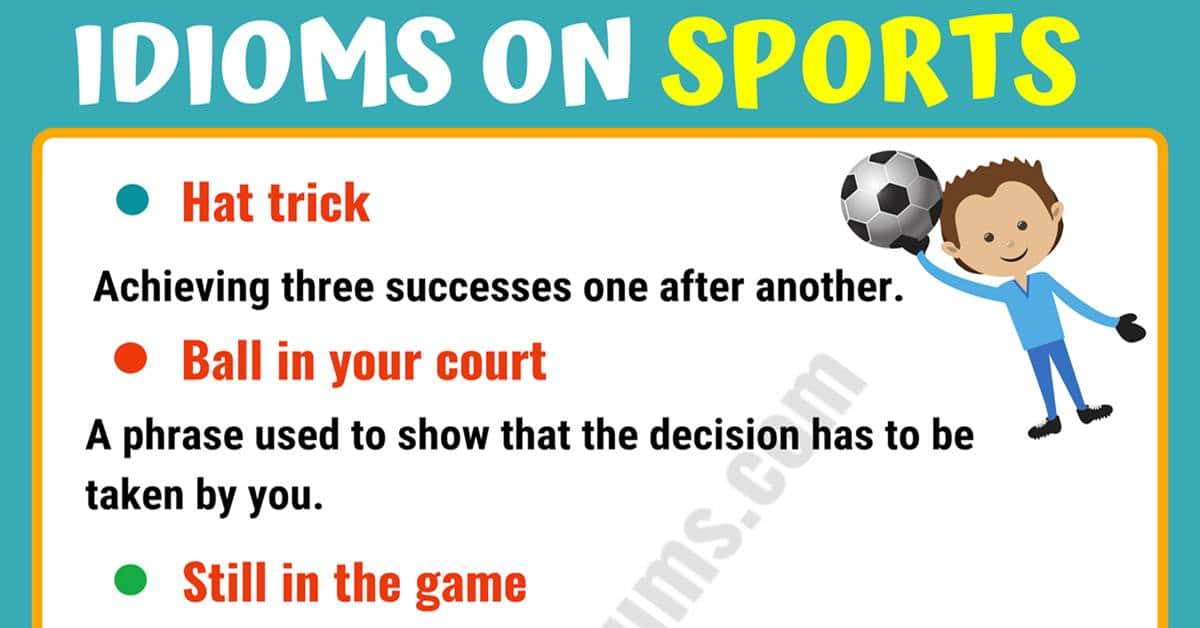 10 Funny Sports Idioms in English 1