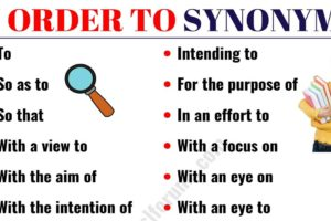 IN ORDER TO Synonym: 18 Synonyms for IN ORDER TO with Examples 10