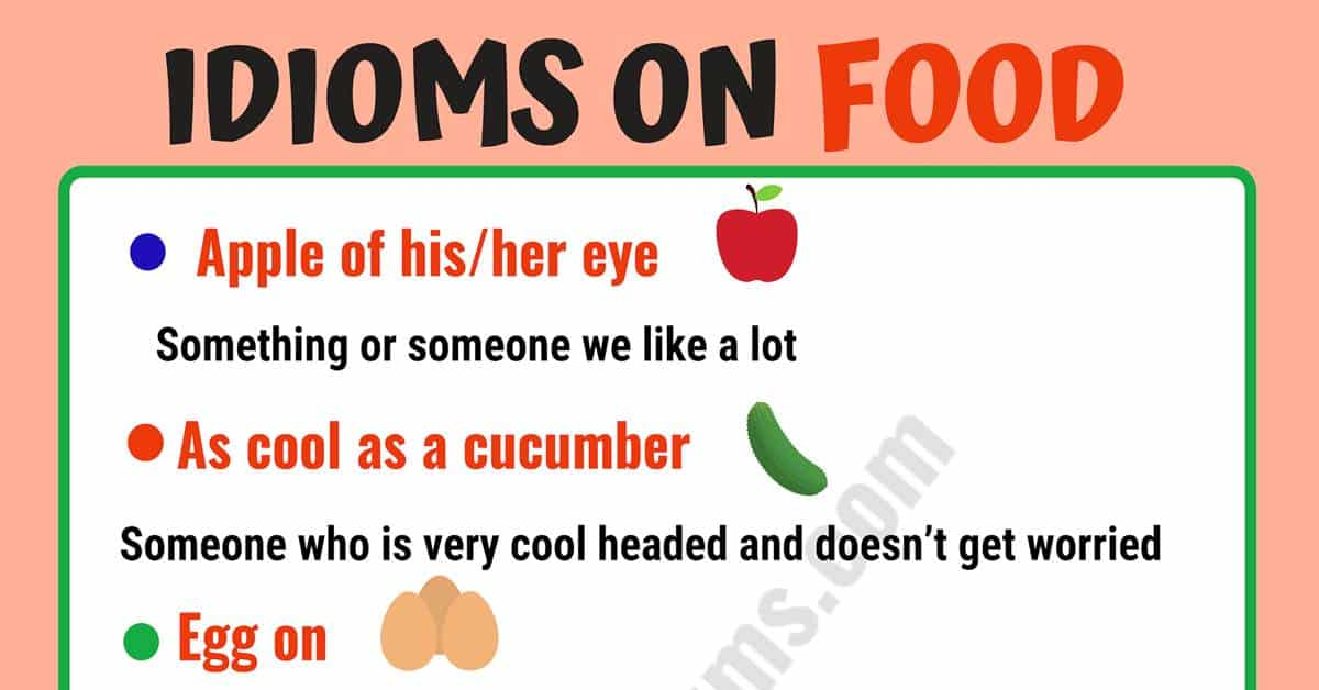 10 Interesting FOOD Idioms and Their Meaning! 1