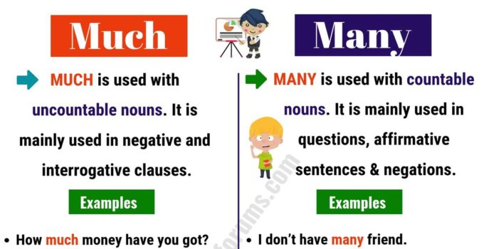 MUCH vs MANY: What Are The Differences between Them? 3