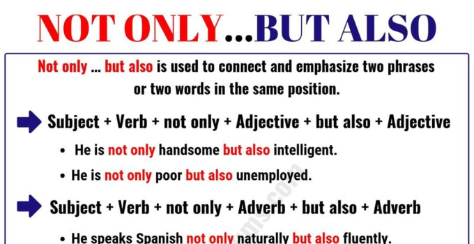 """""""Not Only But Also"""" - Important Rules and Examples 1"""