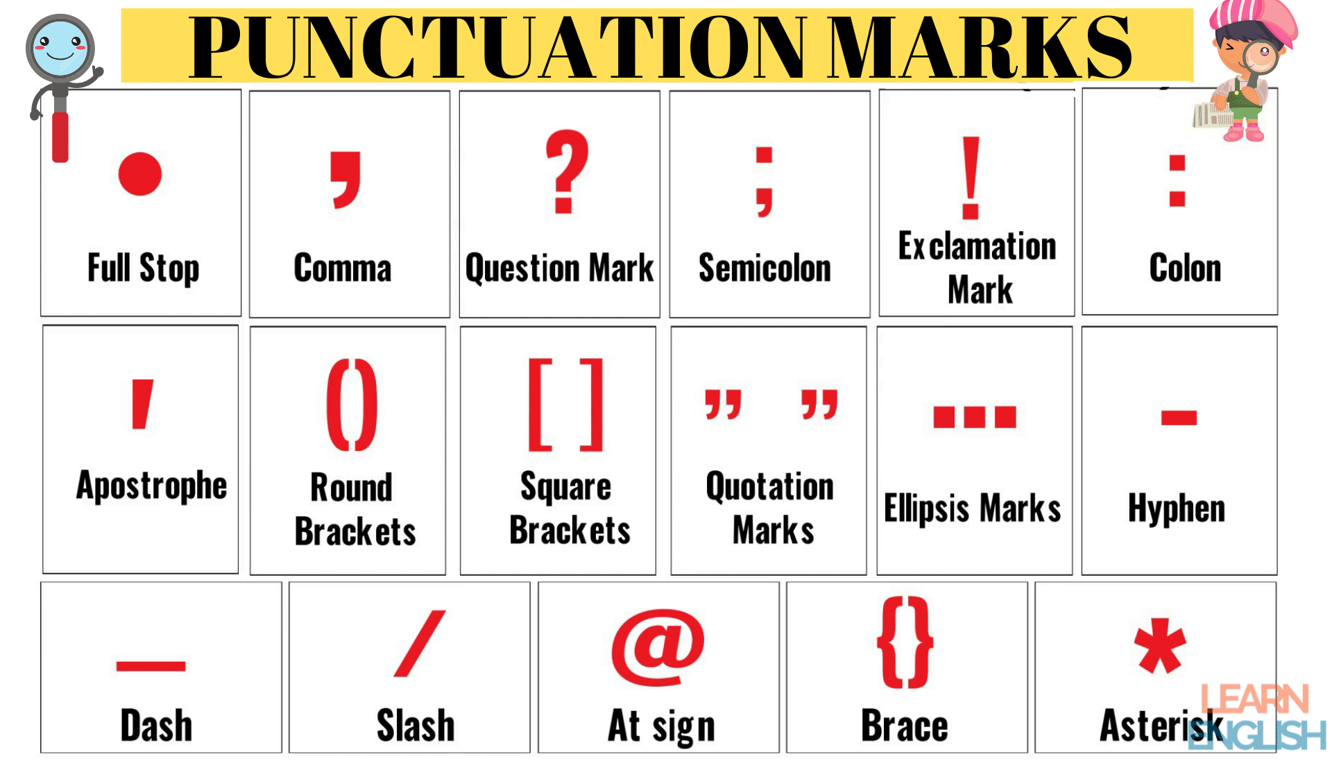 Punctuation Marks: List of Important Punctuation Marks in English Grammar