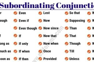 50 Important Subordinating Conjunctions in English Grammar 9
