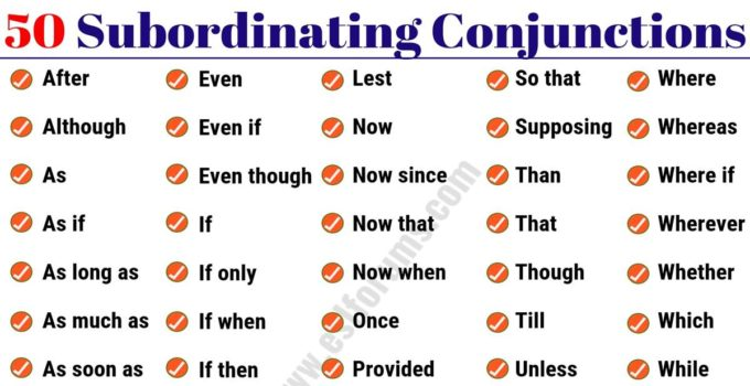 50 Important Subordinating Conjunctions in English Grammar 3