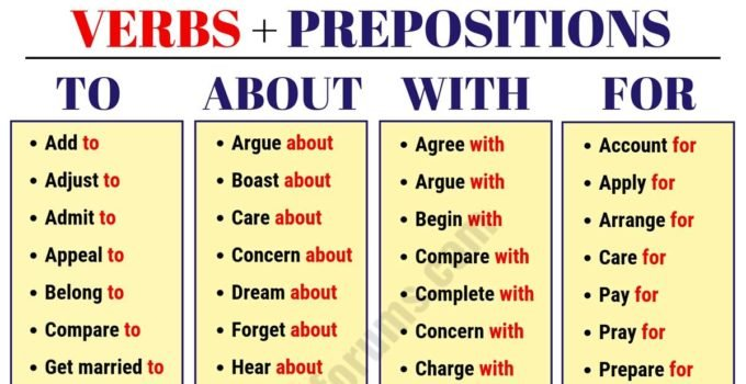 List of 150 Important Verbs and Prepositions Combinations 2