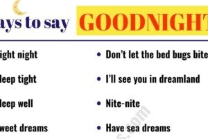 18 Funny Ways to Say GOODNIGHT 6