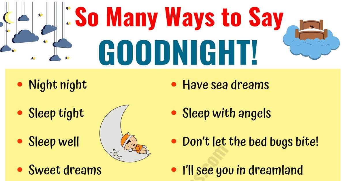 GOODNIGHT Quotes: 18 Funny Goodnight Messages in English 1