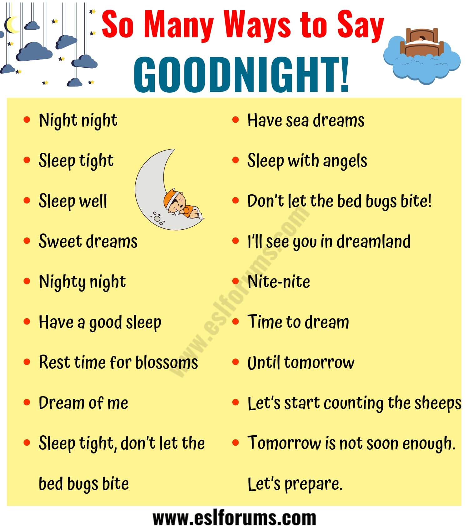 GOODNIGHT Quotes: 18 Funny Ways to Say GOODNIGHT in English