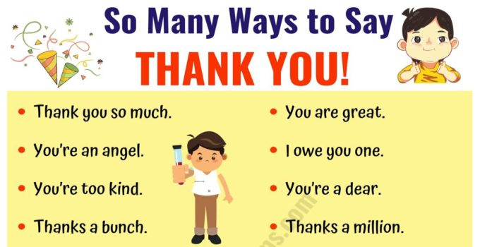 THANK YOU Synonym | 41 Creative Ways to Say Thank You! 11