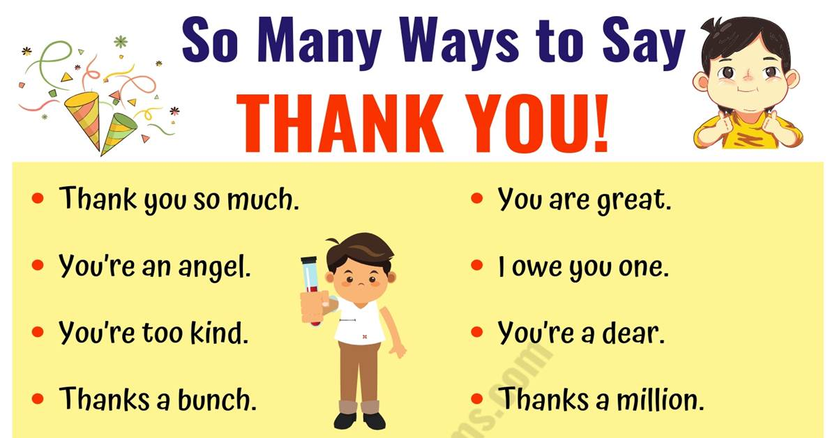 THANK YOU Synonym | 41 Creative Ways to Say Thank You! 1