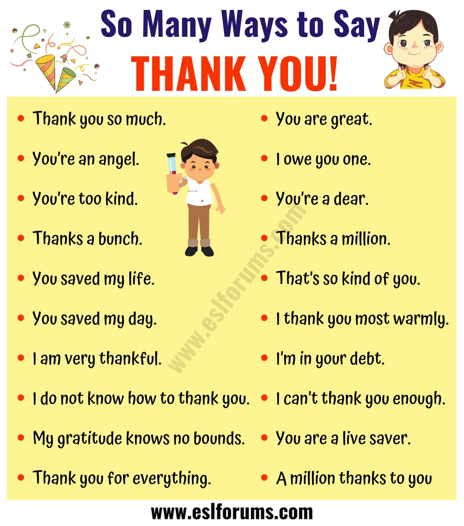 41 Creative Ways to Say THANK YOU | THANK YOU Synonym List