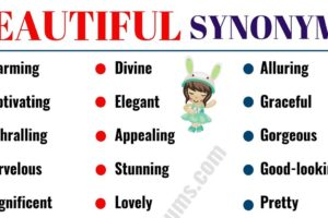 BEAUTIFUL Synonym: 60 Best Synonyms for BEAUTIFUL 18