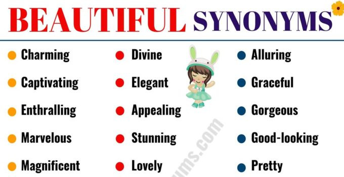 BEAUTIFUL Synonym: 60 Best Synonyms for BEAUTIFUL 1