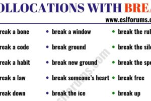 24 Useful Collocations with BREAK 18