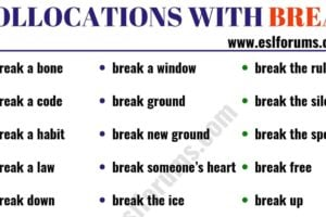 24 Useful Collocations with BREAK 10