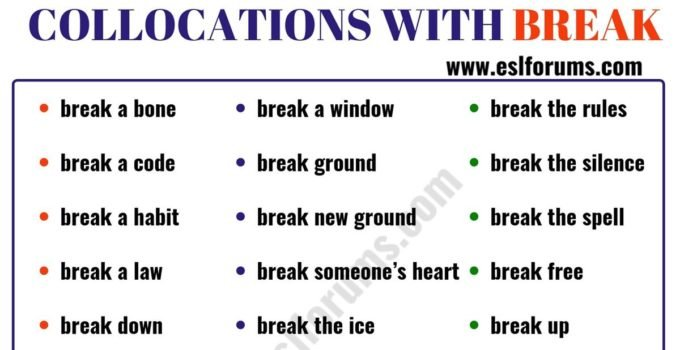 24 Useful Collocations with BREAK 5