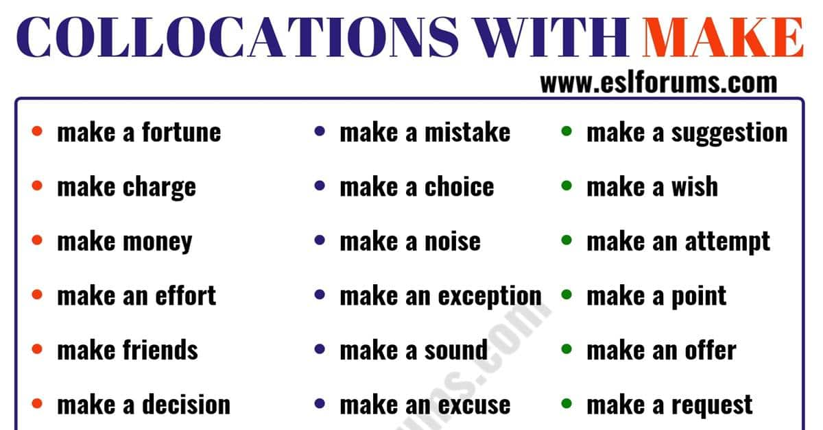 39 Useful Collocations with MAKE in English 10