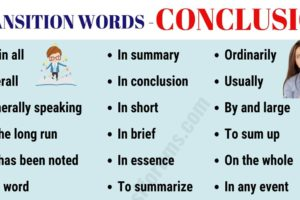 CONCLUSION Transition Words: Useful List & Examples 4