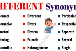 DIFFERENT Synonym: List of 40 Synonyms for DIFFERENT with Examples 8
