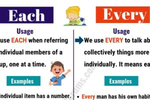 EACH vs EVERY: How to Use Every vs Each Correctly? 9