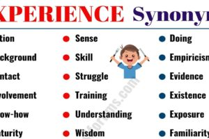 Other Words for EXPERIENCE: 40 Useful Synonyms for EXPERIENCE 11