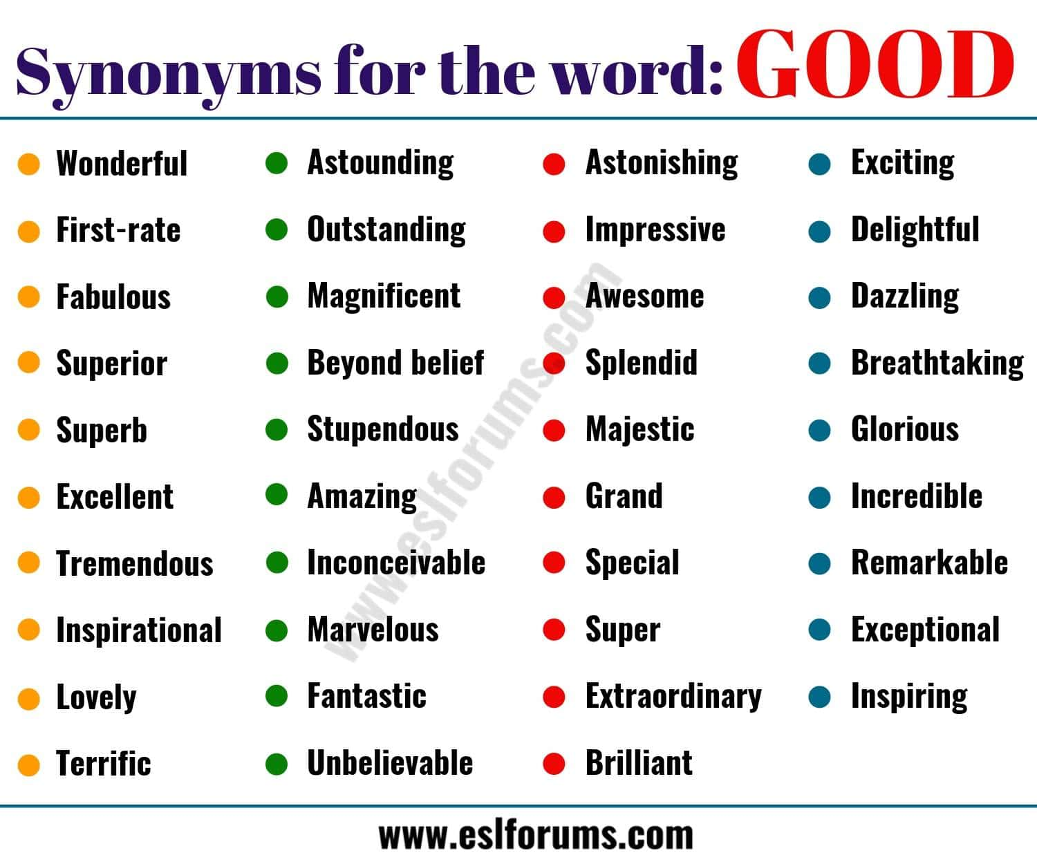 Another Word for GOOD: List of 38 Useful Synonyms for GOOD in English