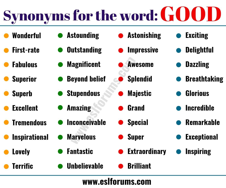 GOOD Synonym