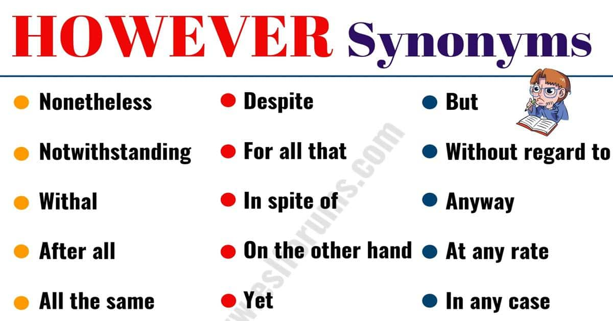HOWEVER Synonym: 23 Useful Words to Use Instead of HOWEVER 1