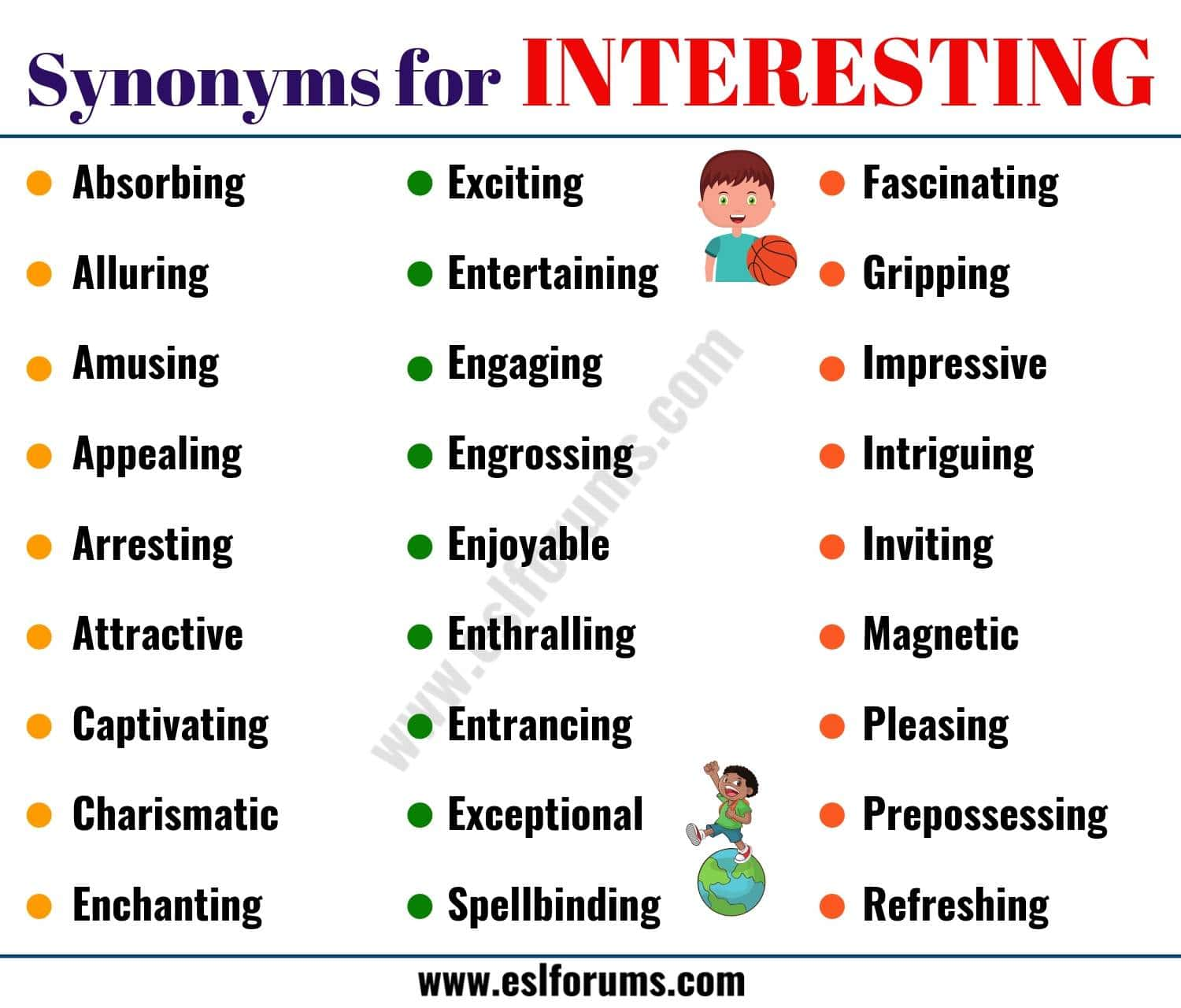Words to Use Instead of INTERESTING: List of 40+ Synonyms for Interesting